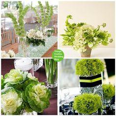 bryllups blomster grøn