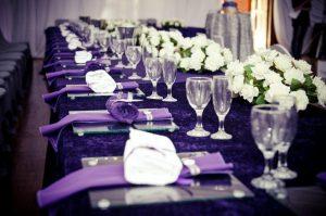 bryllups blomster lilla