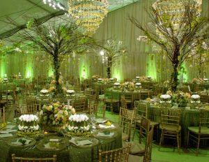 bryllups decor grøn