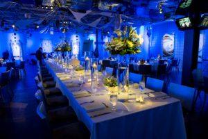 bryllups dekoration blå