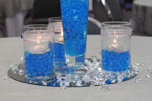 bryllups pynt blå