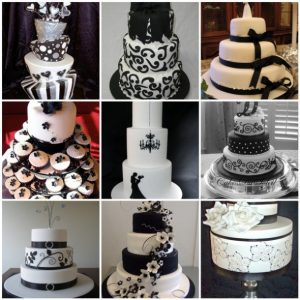 bryllups pynt sort hvid