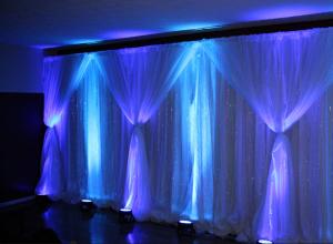 bryllups uplight blå